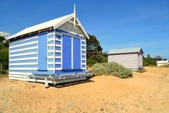 Пляж Брайтона купая коробку Стоковые Фото