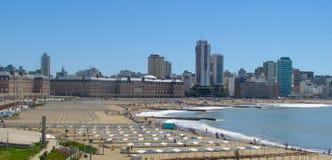Пляж Бристоля, Mar del Plata, Буэнос-Айрес стоковые фотографии rf