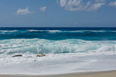 пляж бурный Стоковое Изображение