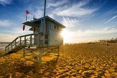 Пляж Венеции на заходе солнца в Лос-Анджелесе стоковое изображение