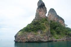 Пляж взгляда острова тропический, море andaman, провинция Krabi Таиланд Стоковые Фотографии RF