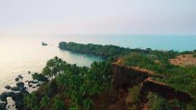 Пляж вида с воздуха тропический в Индии, Goa видеоматериал