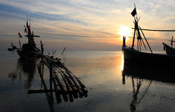 Пляж восхода солнца ландшафта моря Стоковая Фотография