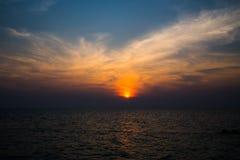 Пляж восхода солнца на острове Munnork Koh Стоковая Фотография