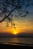 Пляж восхода солнца Стоковое Фото