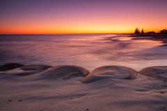 Пляж восхода солнца Стоковое Изображение