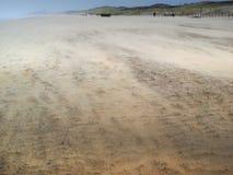 Пляж во время шторма Стоковое фото RF