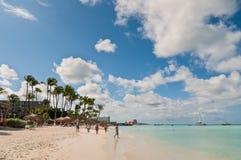 Пляж в Аруба Стоковое Изображение RF