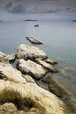 Пляж в архипелаге Sporades острова Skiathos стоковое изображение