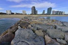 Пляж в Барселоне Стоковая Фотография