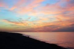 Пляж в Батуми Стоковые Изображения