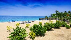 Пляж в Вест-Индия Стоковые Изображения RF