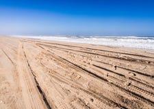 Пляж в гавани сандвича, Намибии Стоковое фото RF