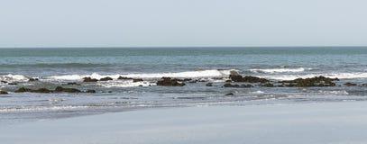 Пляж в Гамбии стоковое фото rf