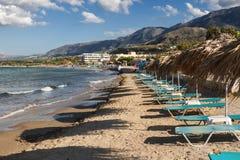 Пляж в Греции, Крите Стоковые Фото