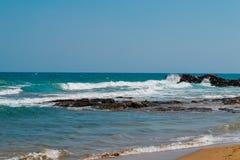 Пляж в Греции Стоковое Изображение