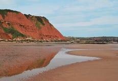 Пляж в Девоне Стоковое Изображение RF
