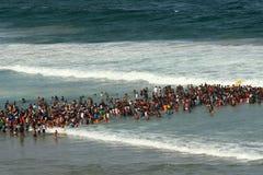 Пляж в Дурбане, Южной Африке Стоковые Изображения
