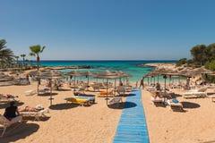 Пляж в Кипре Стоковые Изображения RF