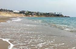 Пляж в Кипре Стоковое Изображение RF