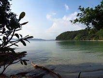 Пляж в море Andaman Стоковая Фотография