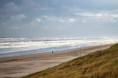 Пляж в Нидерландах стоковое изображение rf