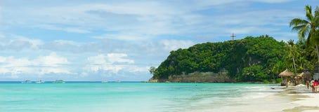 Пляж в острове Boracay Стоковая Фотография