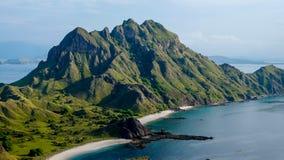 Пляж в острове Padar Стоковое Фото