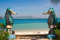 Пляж в острове Vinpearl Стоковое Изображение