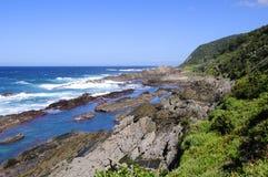 Пляж вдоль тропы выдры, Южная Африка Стоковые Фотографии RF