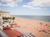Пляж в Португалии, Стоковая Фотография