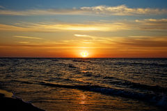 Пляж в Польше Стоковая Фотография RF