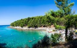 Пляж в пулах, Хорватии Стоковая Фотография RF