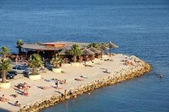 Пляж в разделении, Хорватия Стоковые Изображения RF