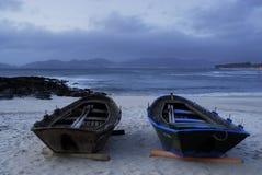 Пляж Barcas в Виго Стоковое Изображение RF