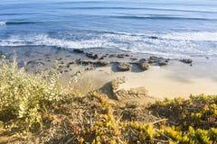 Пляж в Санта-Барбара Стоковая Фотография RF