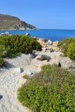 Пляж в Сардинии, Италии Стоковое Фото