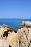 Пляж в Сардинии, Италии Стоковые Изображения