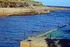 Пляж в Сиднее, Австралии Стоковые Изображения