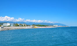 Пляж в Сочи Россия Стоковое Изображение RF