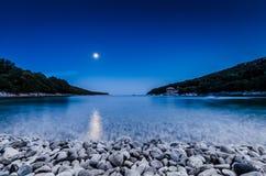 Пляж в сумраке Стоковая Фотография RF
