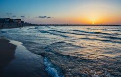 Пляж в Тель-Авив Стоковое Фото