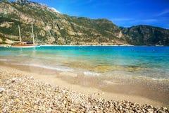 Пляж в Турции Стоковая Фотография RF