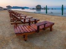 Пляж в утре Стоковые Фото