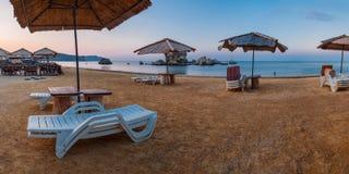 Пляж в утре Стоковая Фотография RF