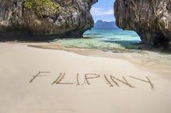 Пляж в Филиппинах Стоковые Фотографии RF