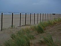 Пляж в шторме Стоковое Фото