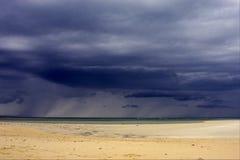 пляж в любопытном iranja Мадагаскаре Стоковое Фото