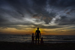 Пляж влюбленности Стоковое Изображение RF