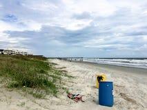 Пляж в Южной Каролине стоковые изображения